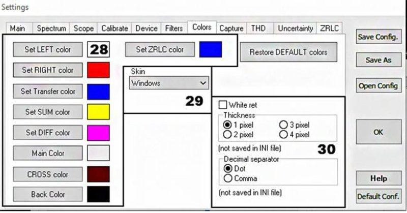 Скрин вкладки Colors
