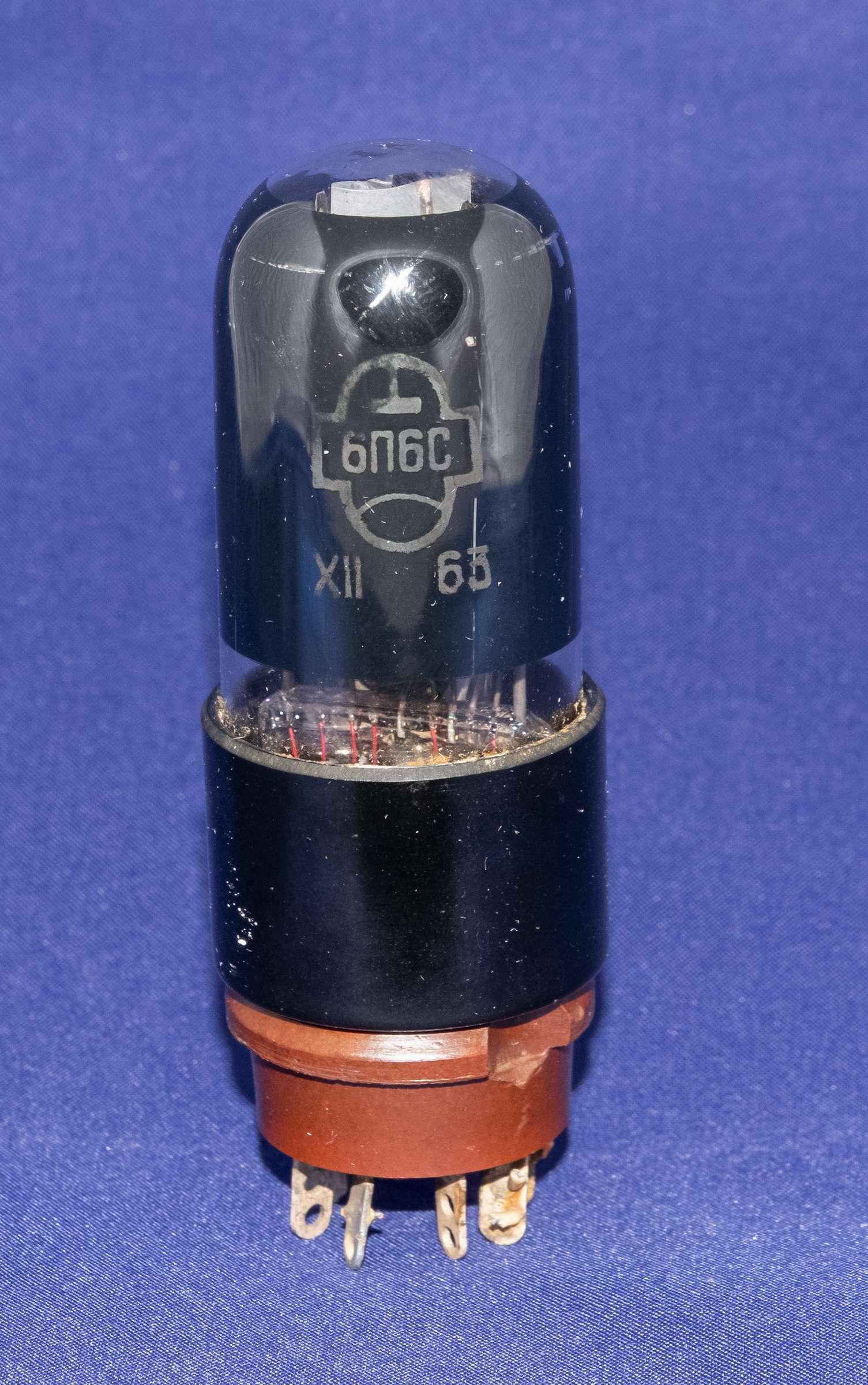 Внешний вид радиолампы 6П6С