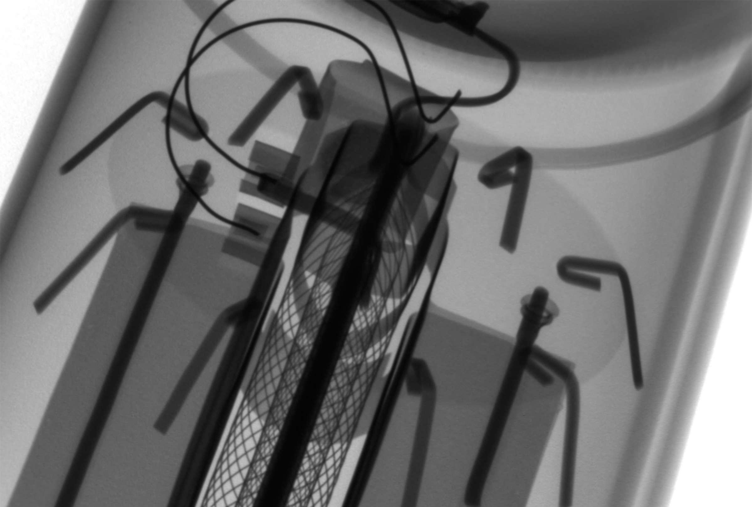Рентгенография радиолампы ГУ-15