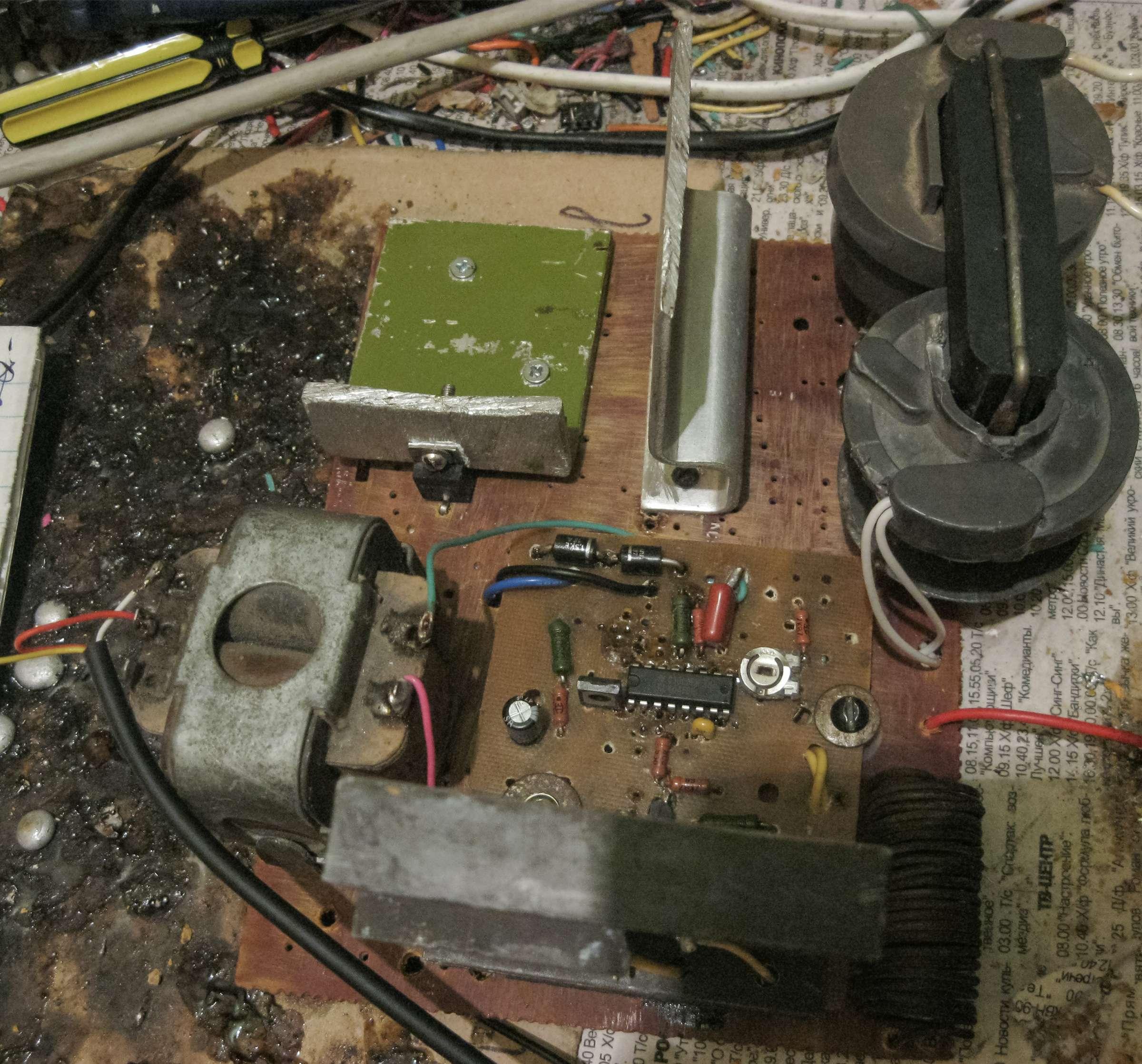 Ионофон на CD4046BE при проведении испытаний