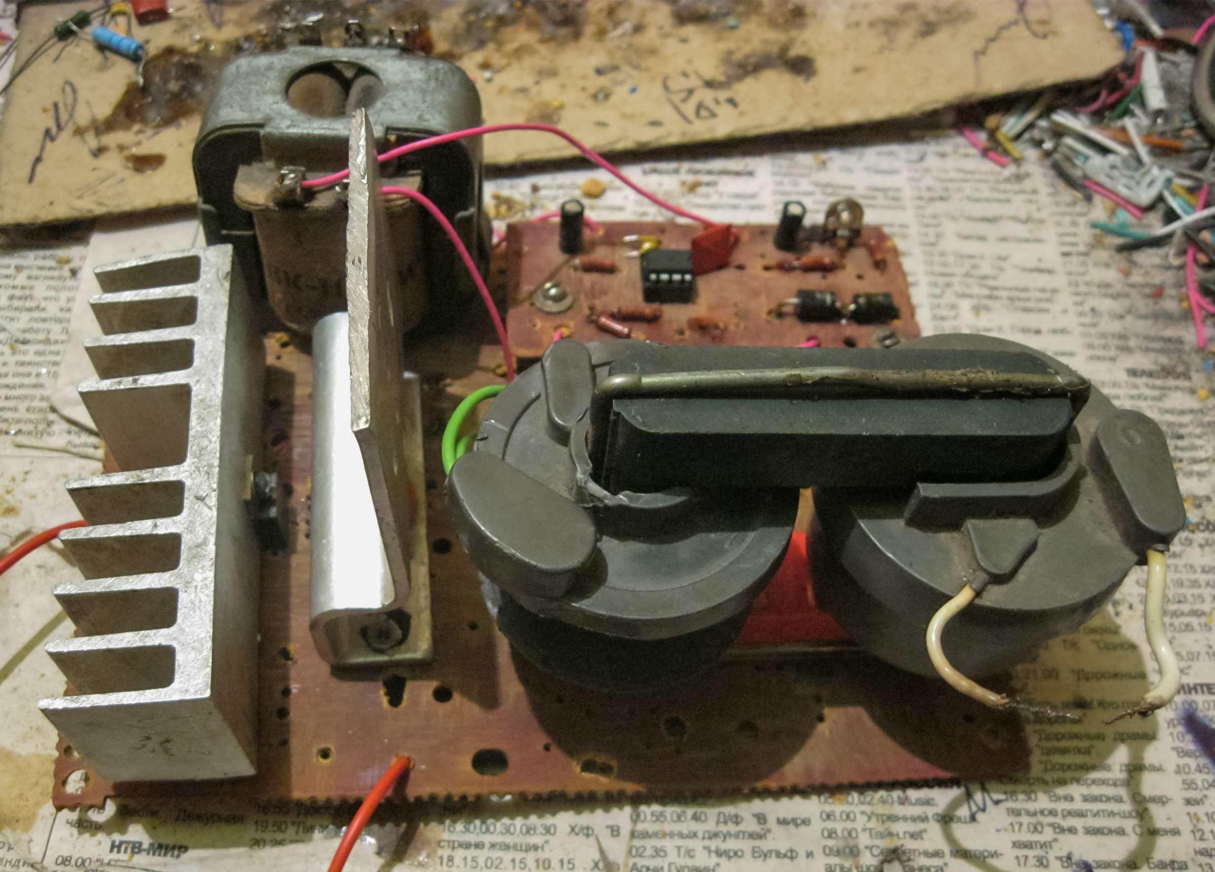 Ионофон на UC3845BN во время проведения испытаний
