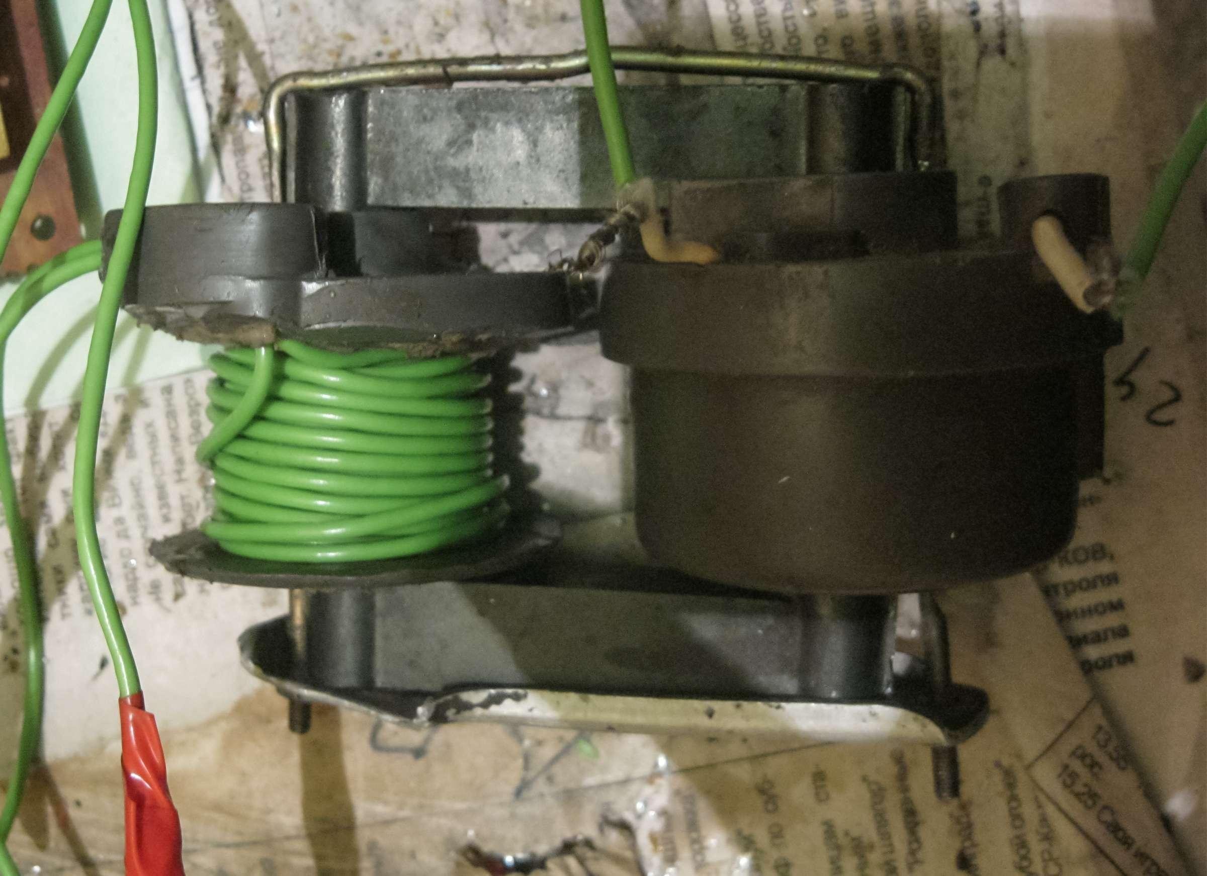 Модернизированный ионофон на UC3845BN при проведении испытаний