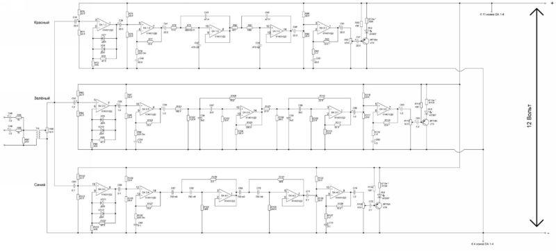 Схема электрическая принципиальная ЦМУ