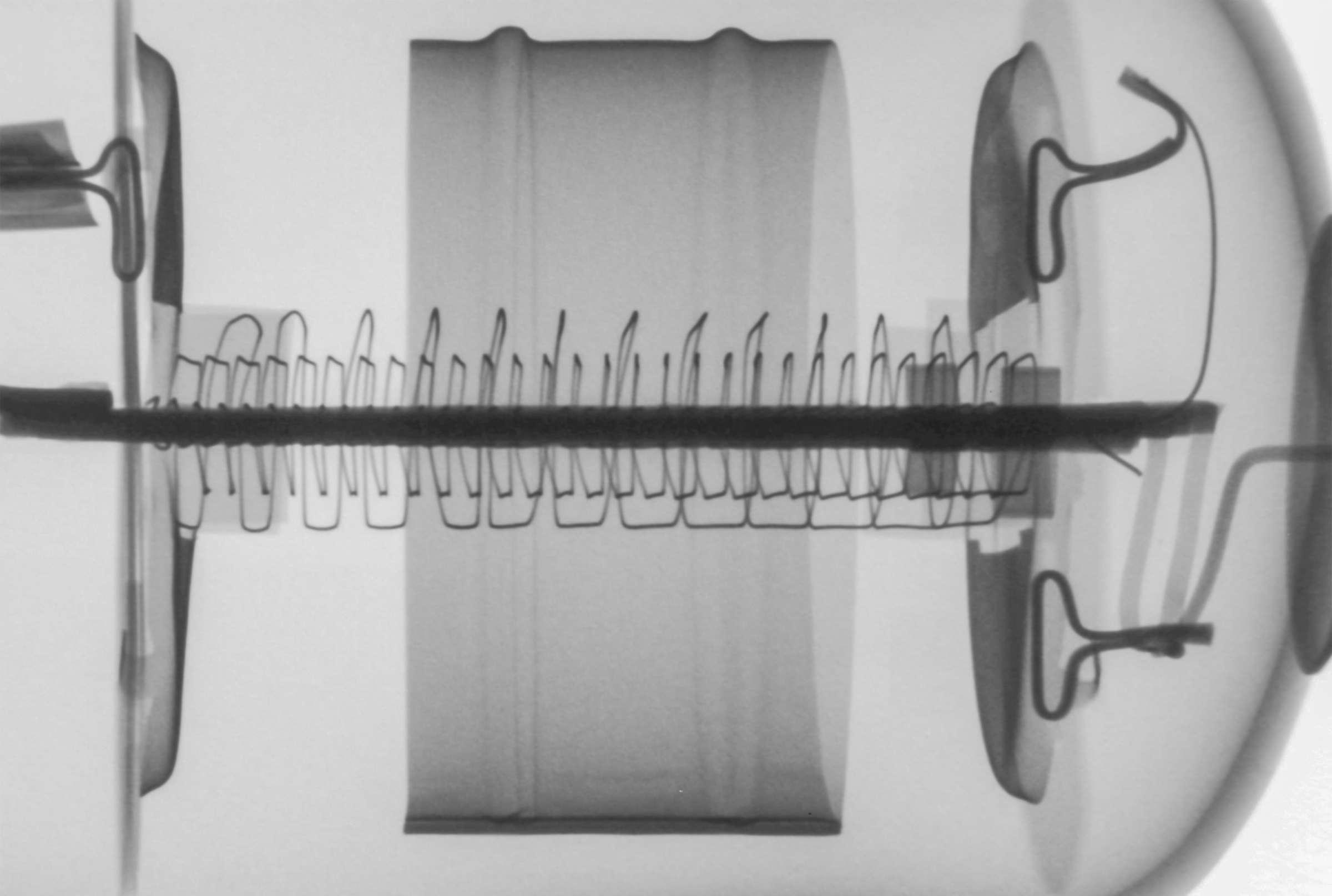 Рентгенография радиолампы 2К2М