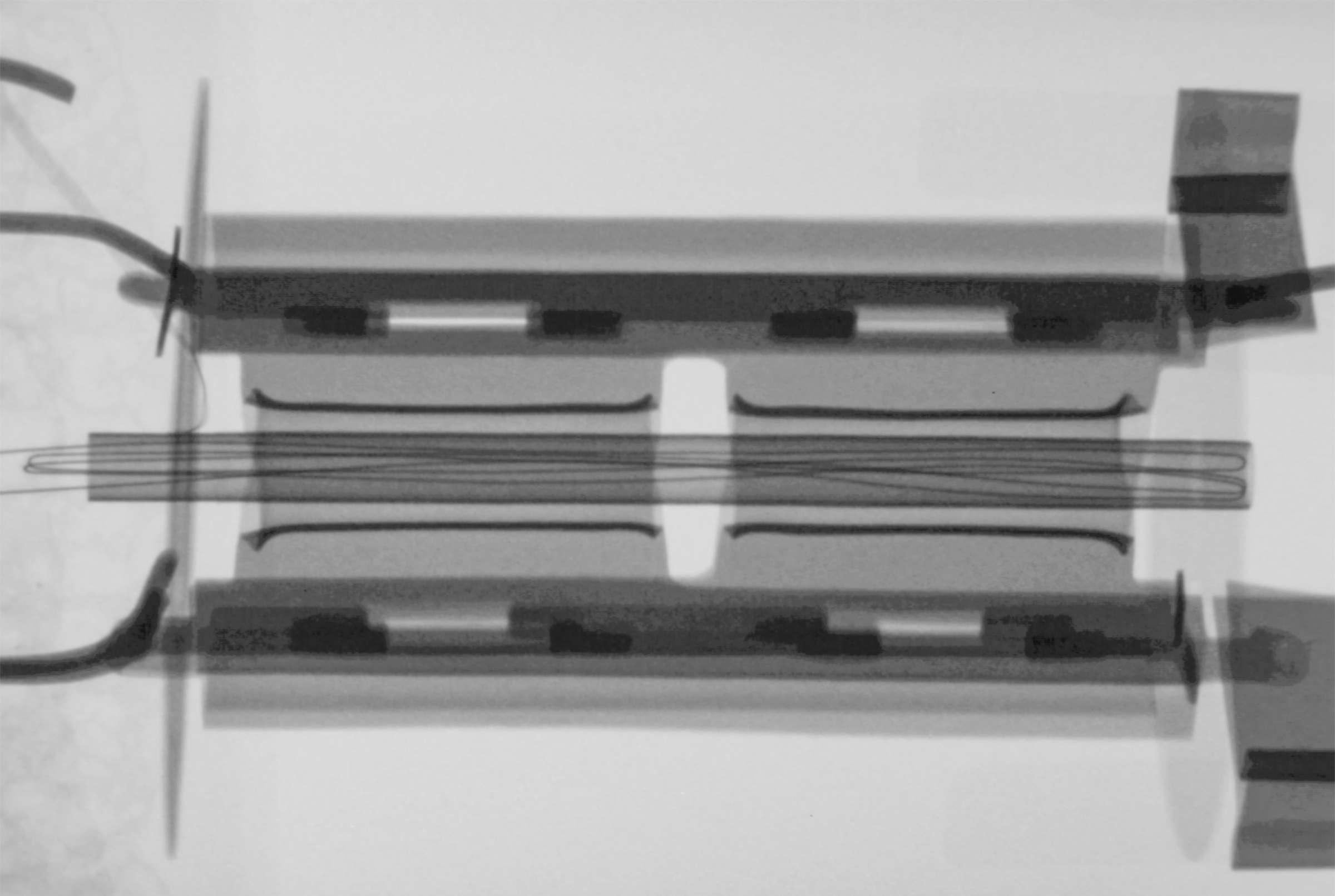 Рентгенография радиолампы 6Ц5С