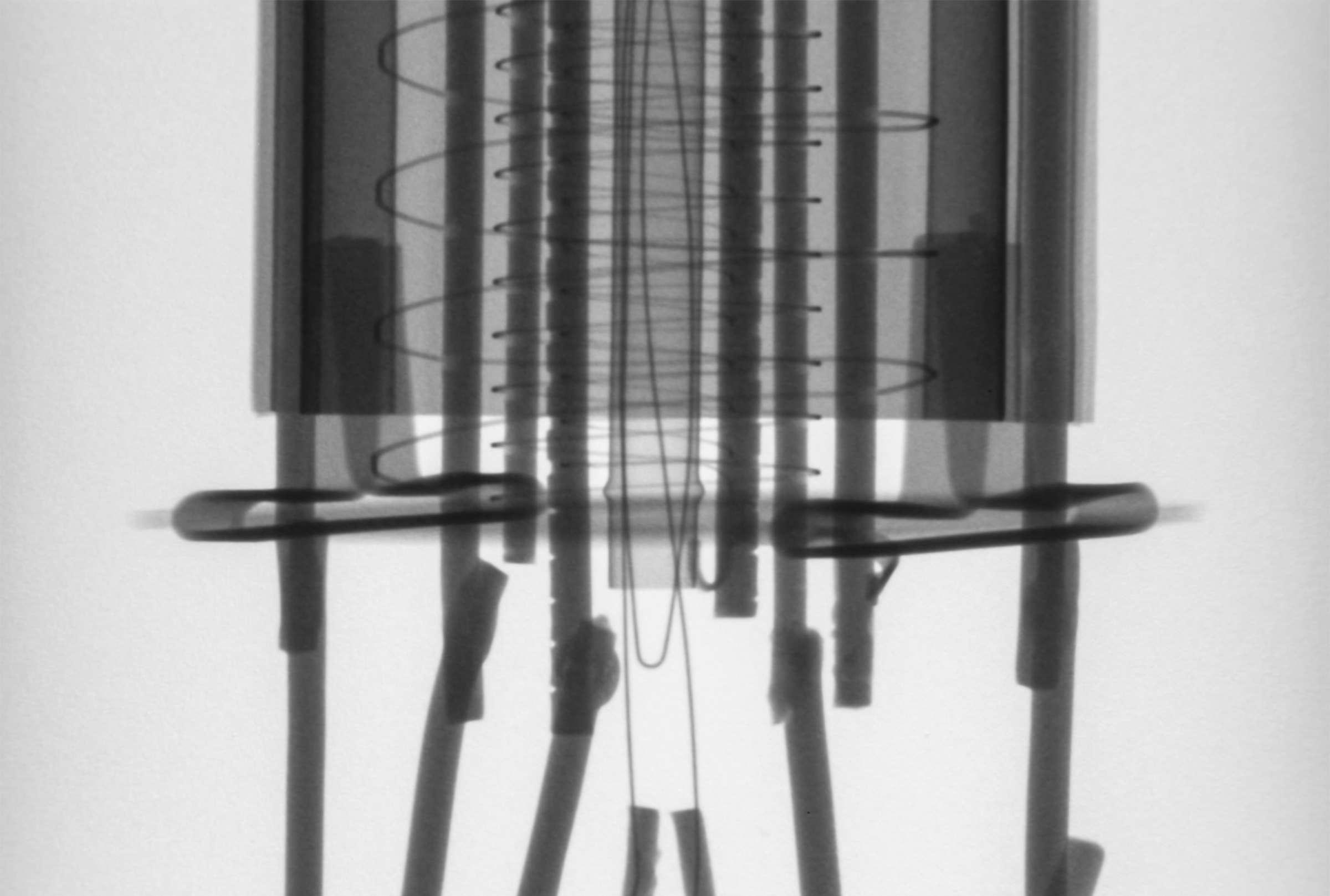 Рентгенография радиолампы 6Ф6С
