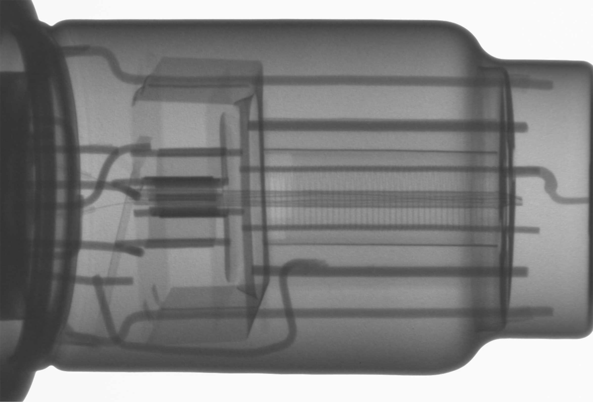Рентгенография радиолампы 6Г7