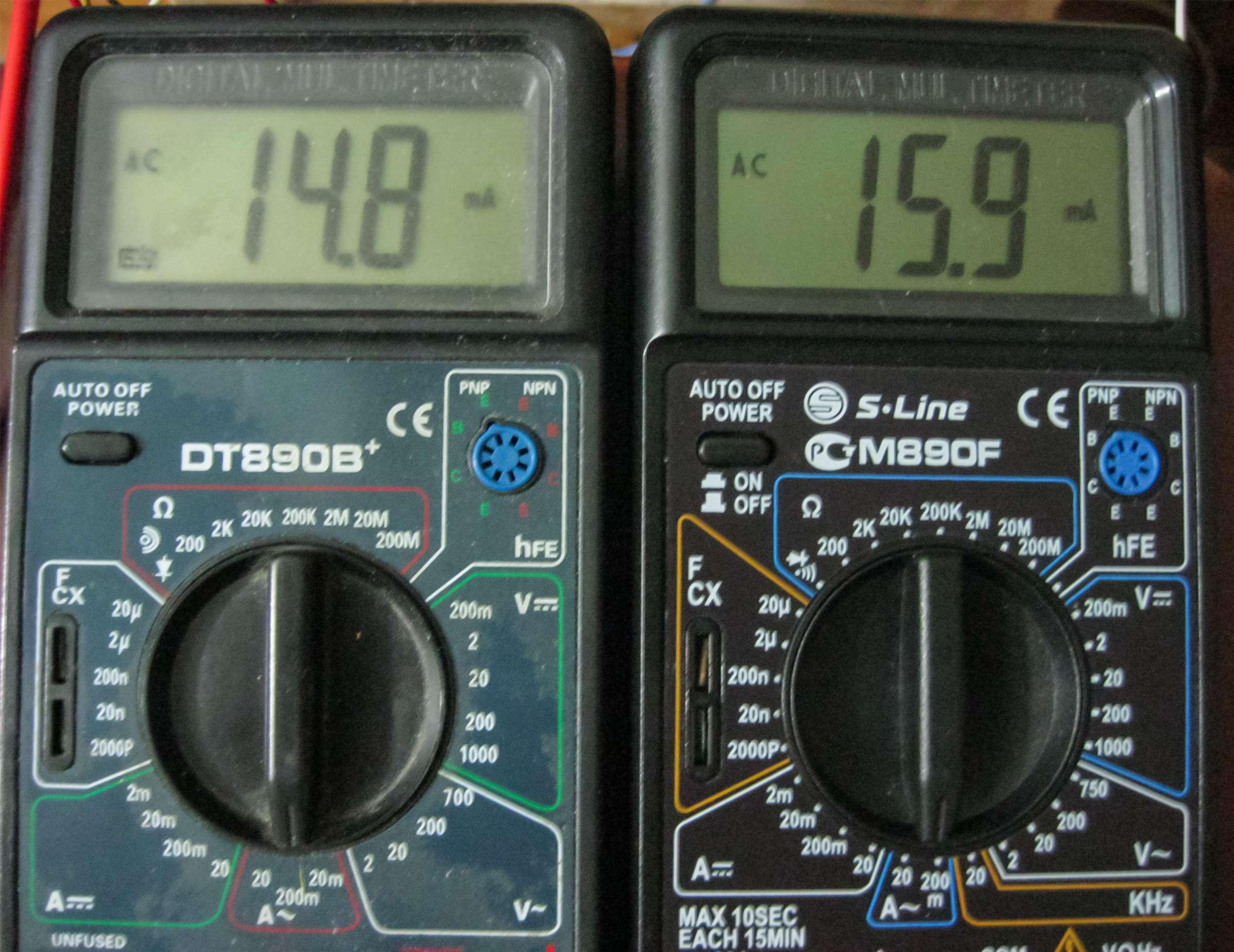 Результат измерения тока плеч выходного каскада