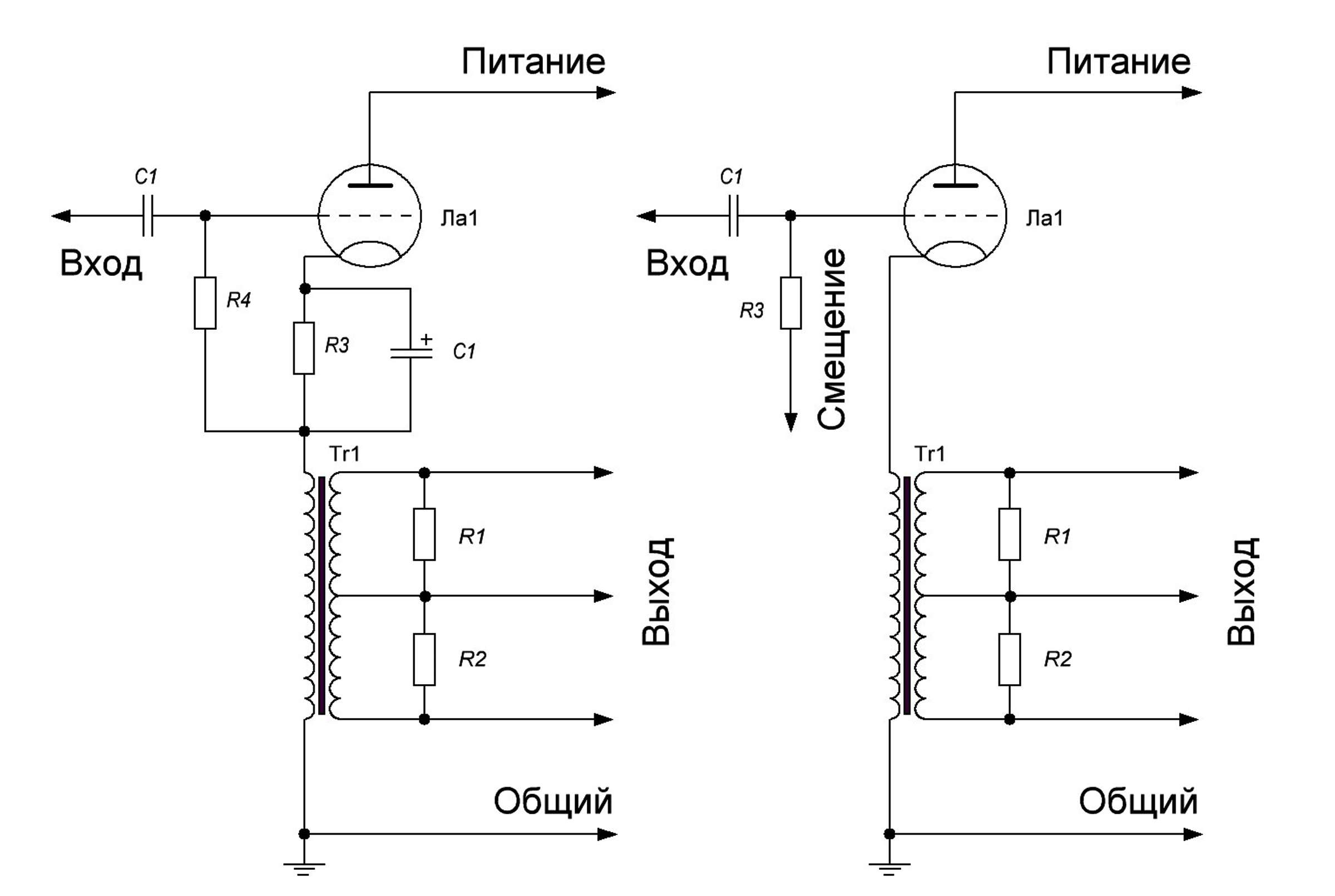 Схема электрическая принципиальная возможной модернизации усилителя