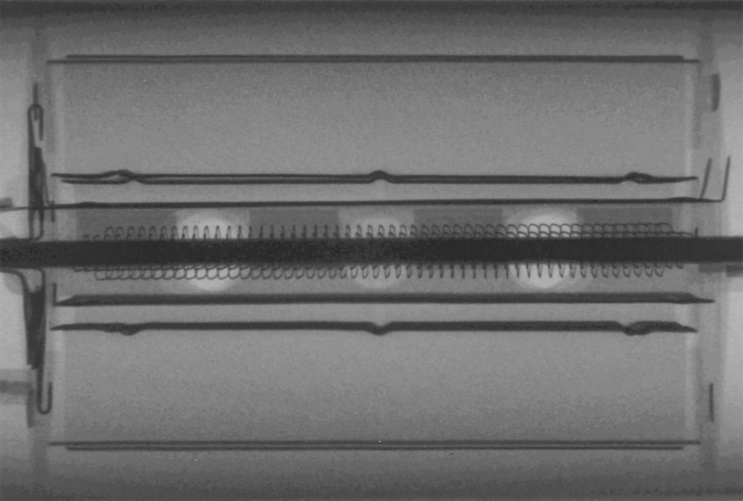 Рентгенография радиолампы 6П43П-Е