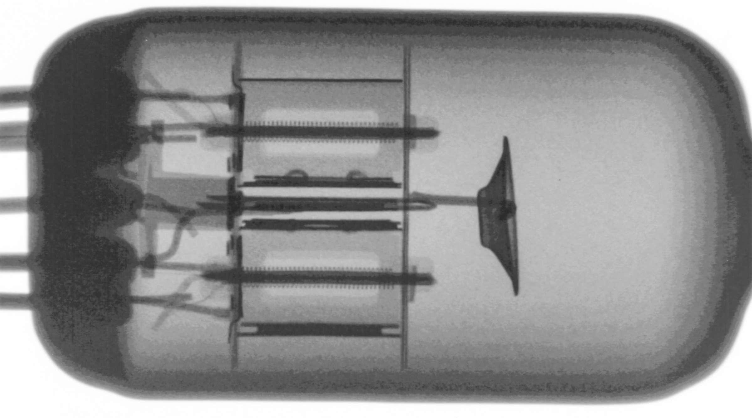 Рентгенография радиолампы 6Н2П