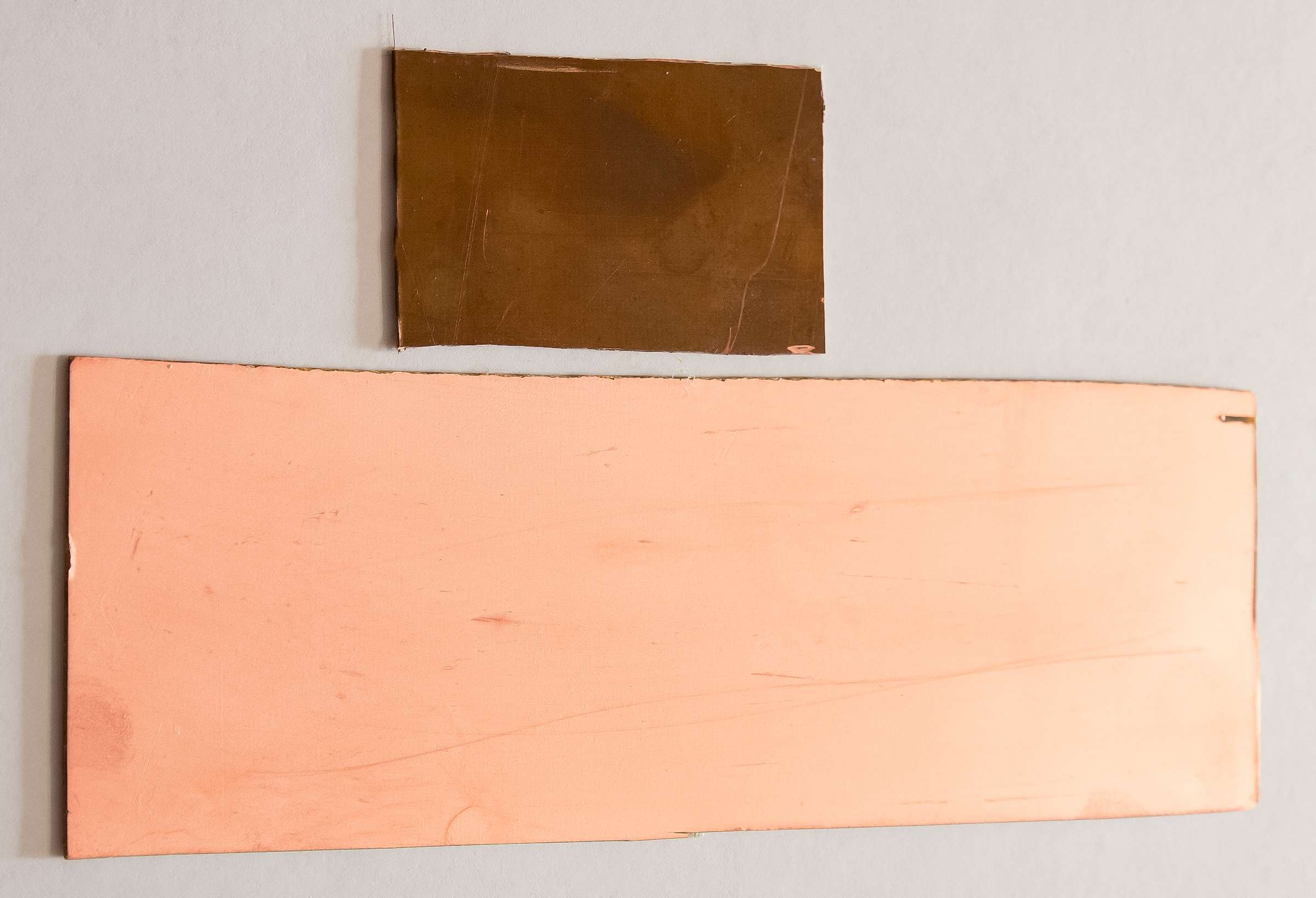 Внешний вид стеклотекстолита после химической подготовки поверхности