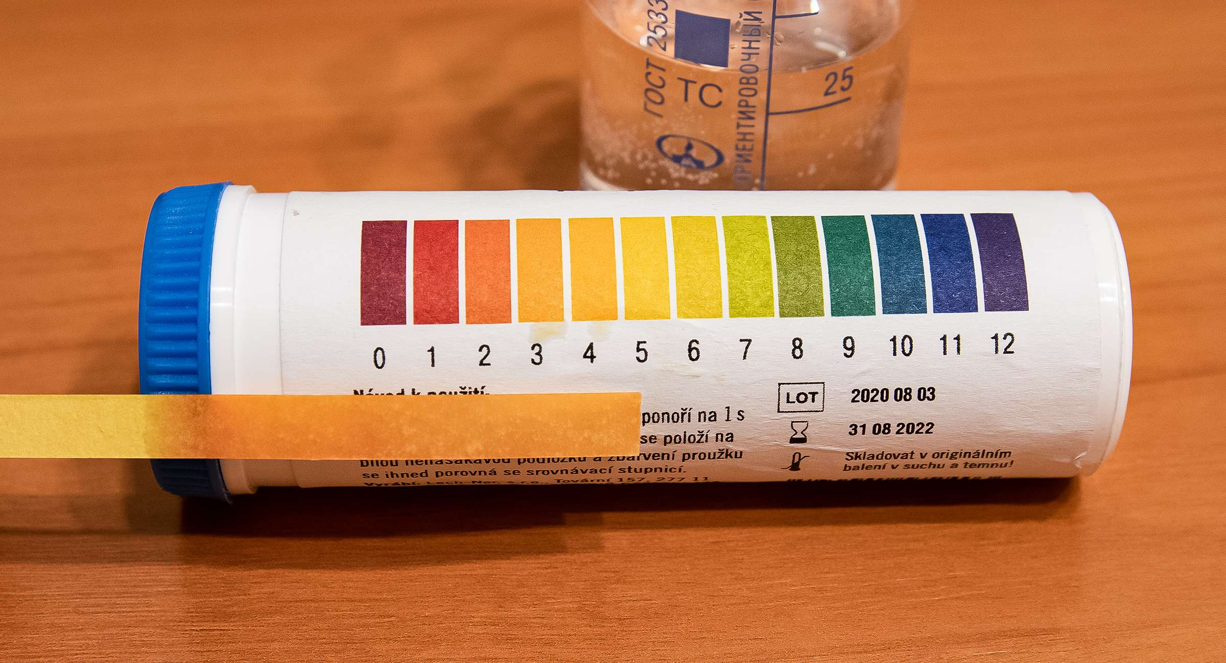 pH перекиси водорода