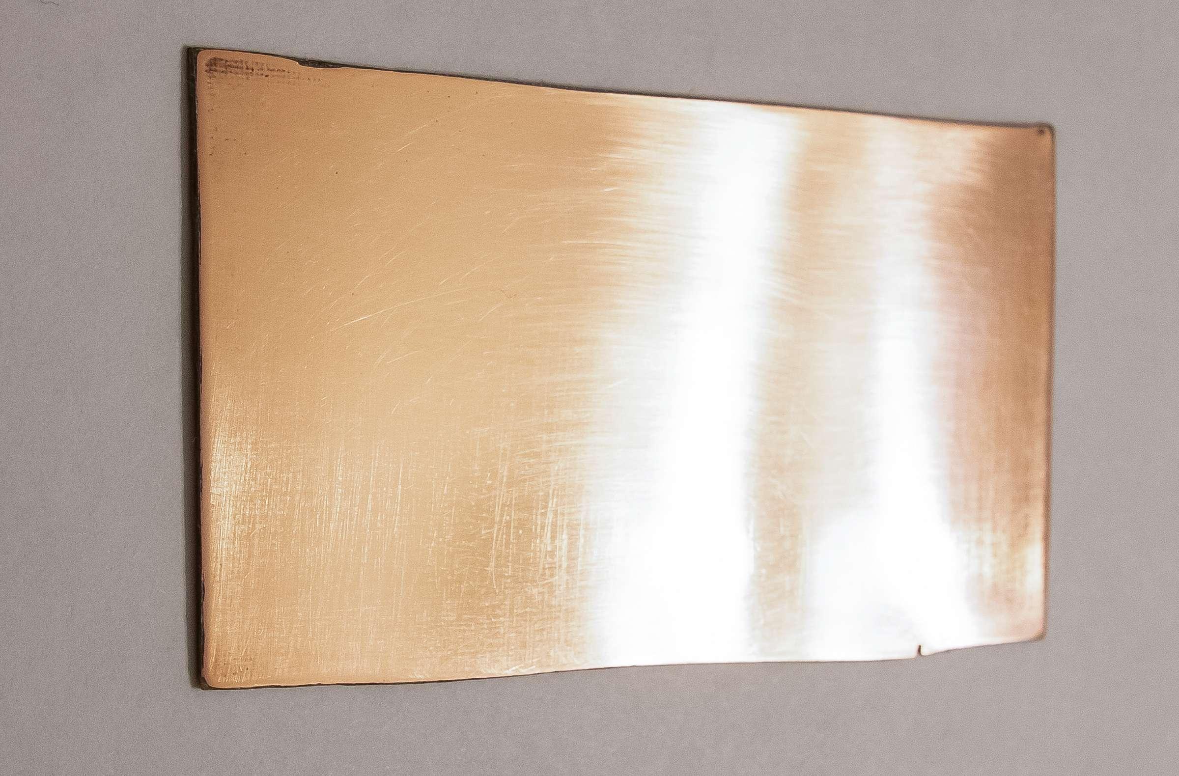 Внешний вид стеклотекстолита после полировки наждачной бумагой