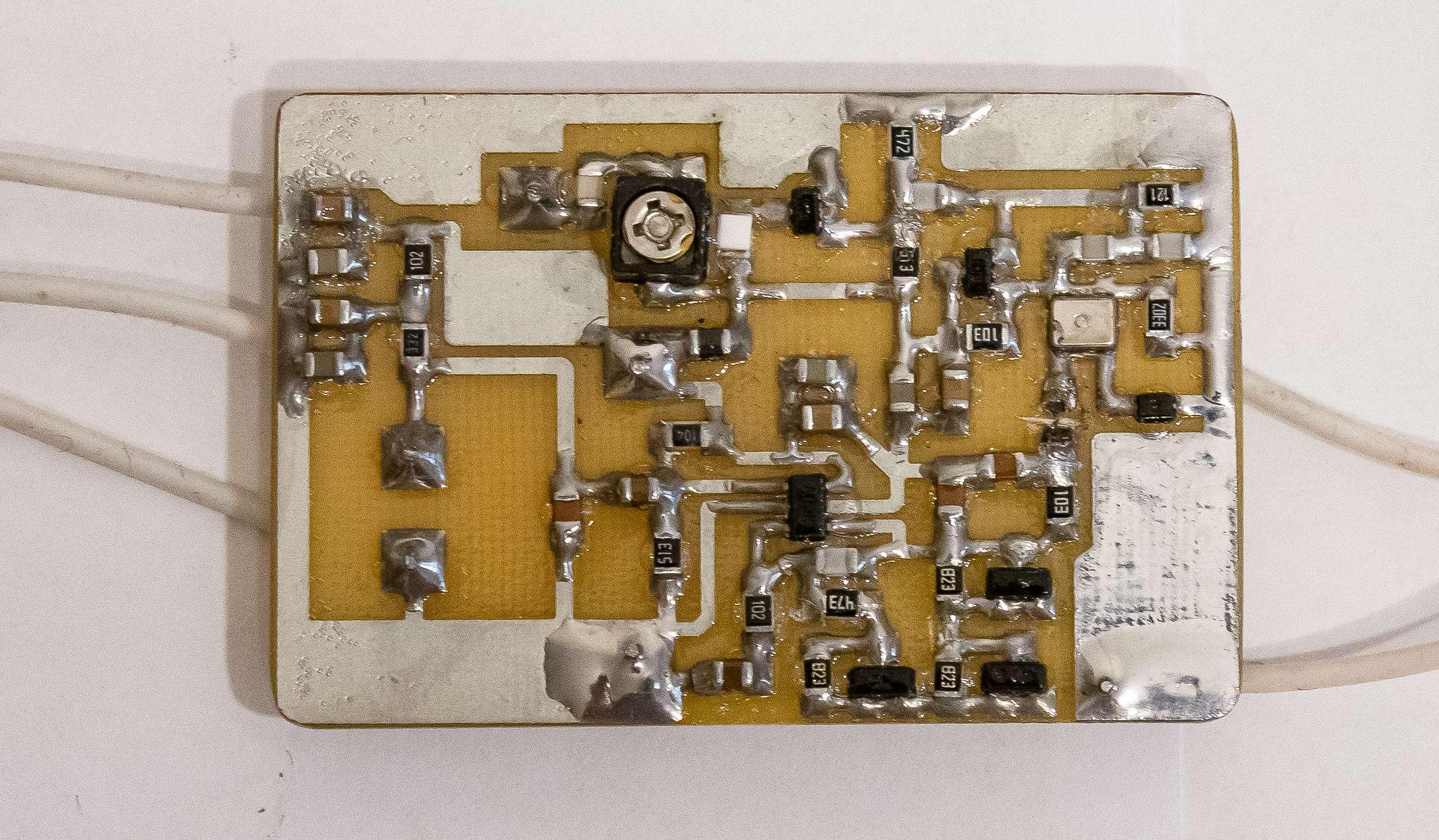 Опытный образец печатного узла
